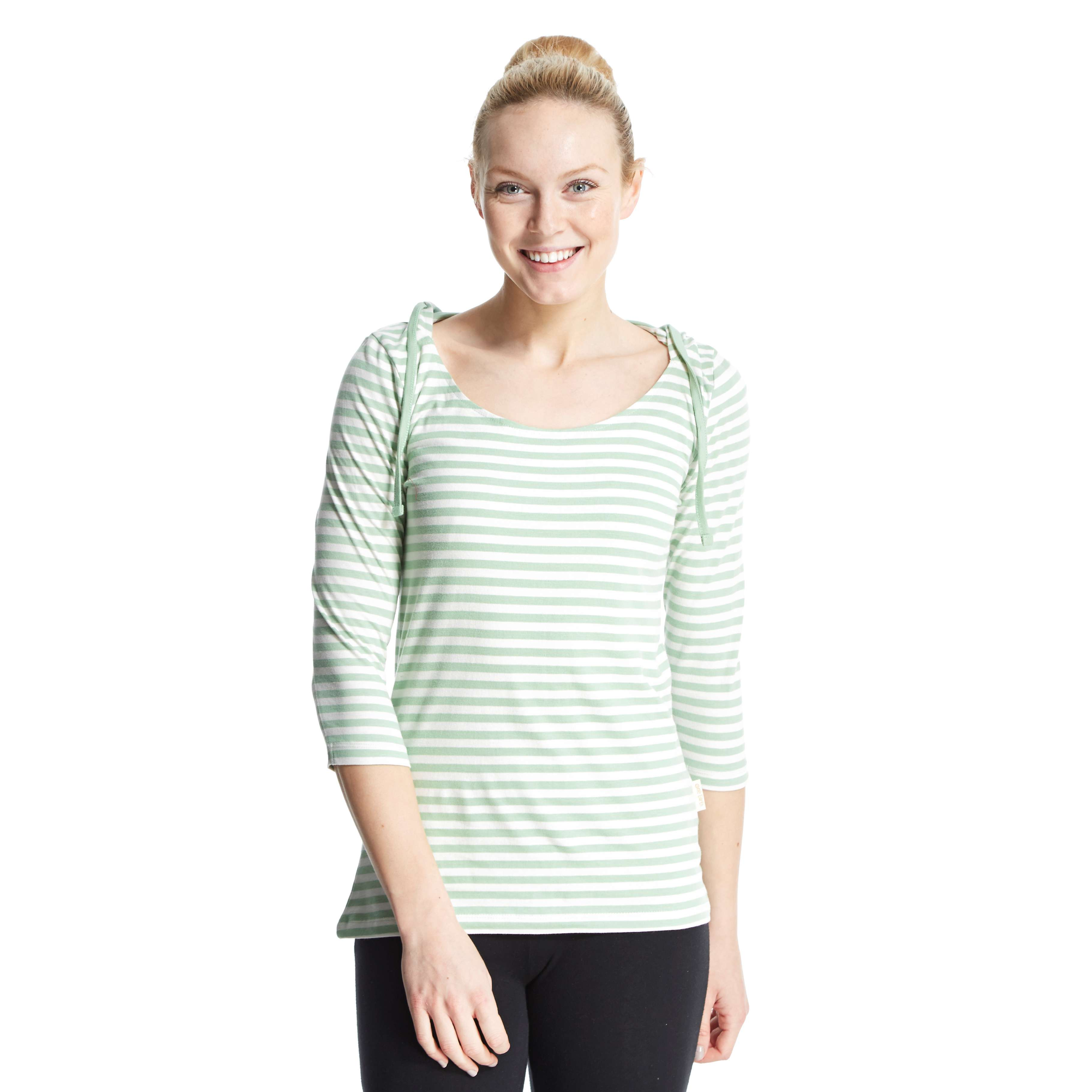 ONE EARTH Women's Holly Stripe Hooded T-Shirt