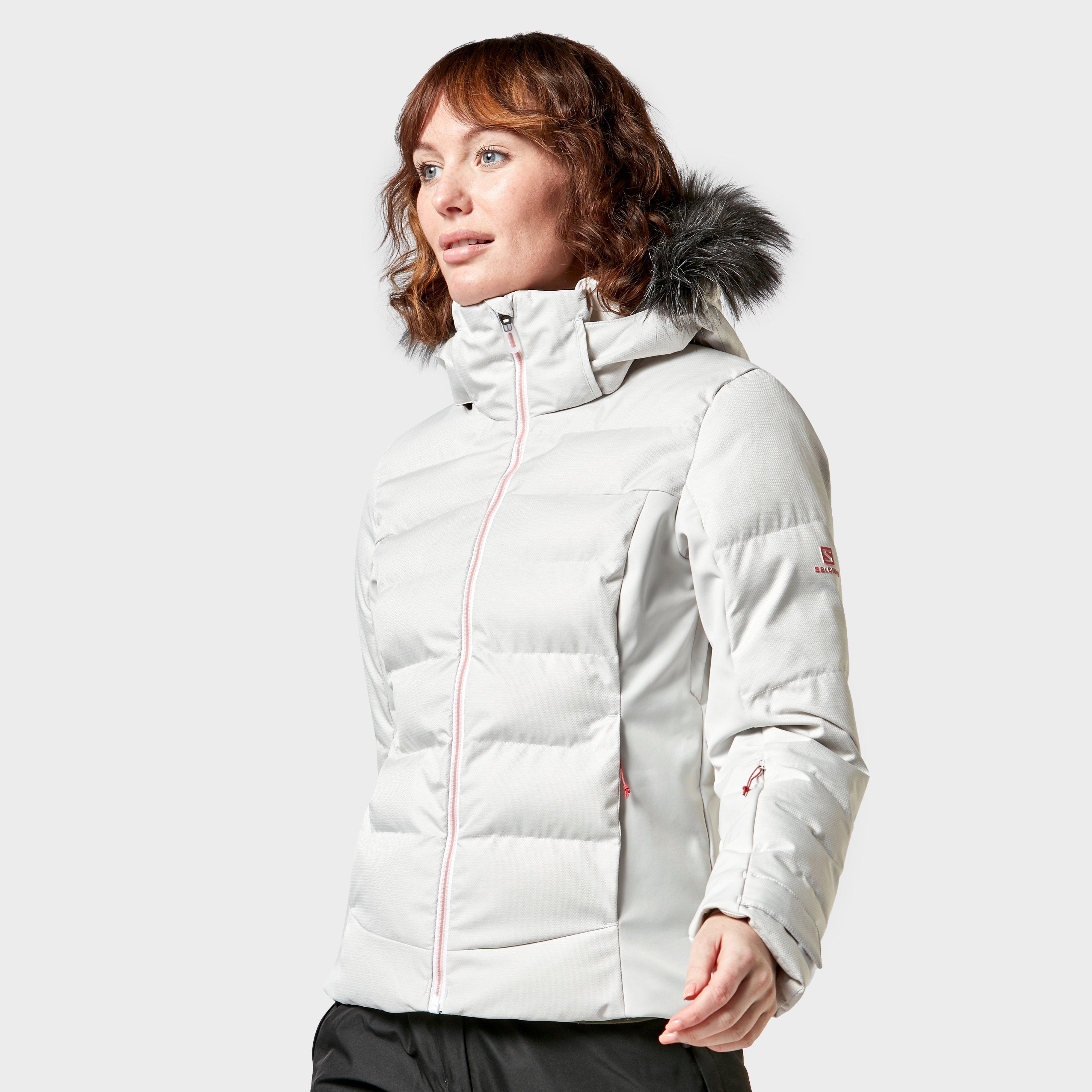 Salomon Women's Stormcozy Ski Jacket - Wht/Wht, White
