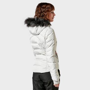 White Salomon Women's Stormcozy Ski Jacket