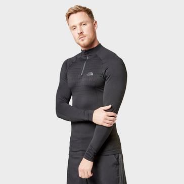 Black The North Face Men's Sport Long Sleeve Zip Top