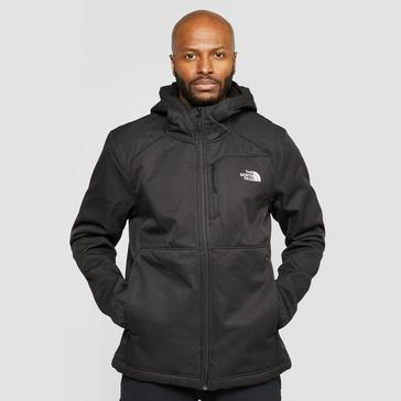 Black The North Face Men's Quest Hooded Softshell Jacket