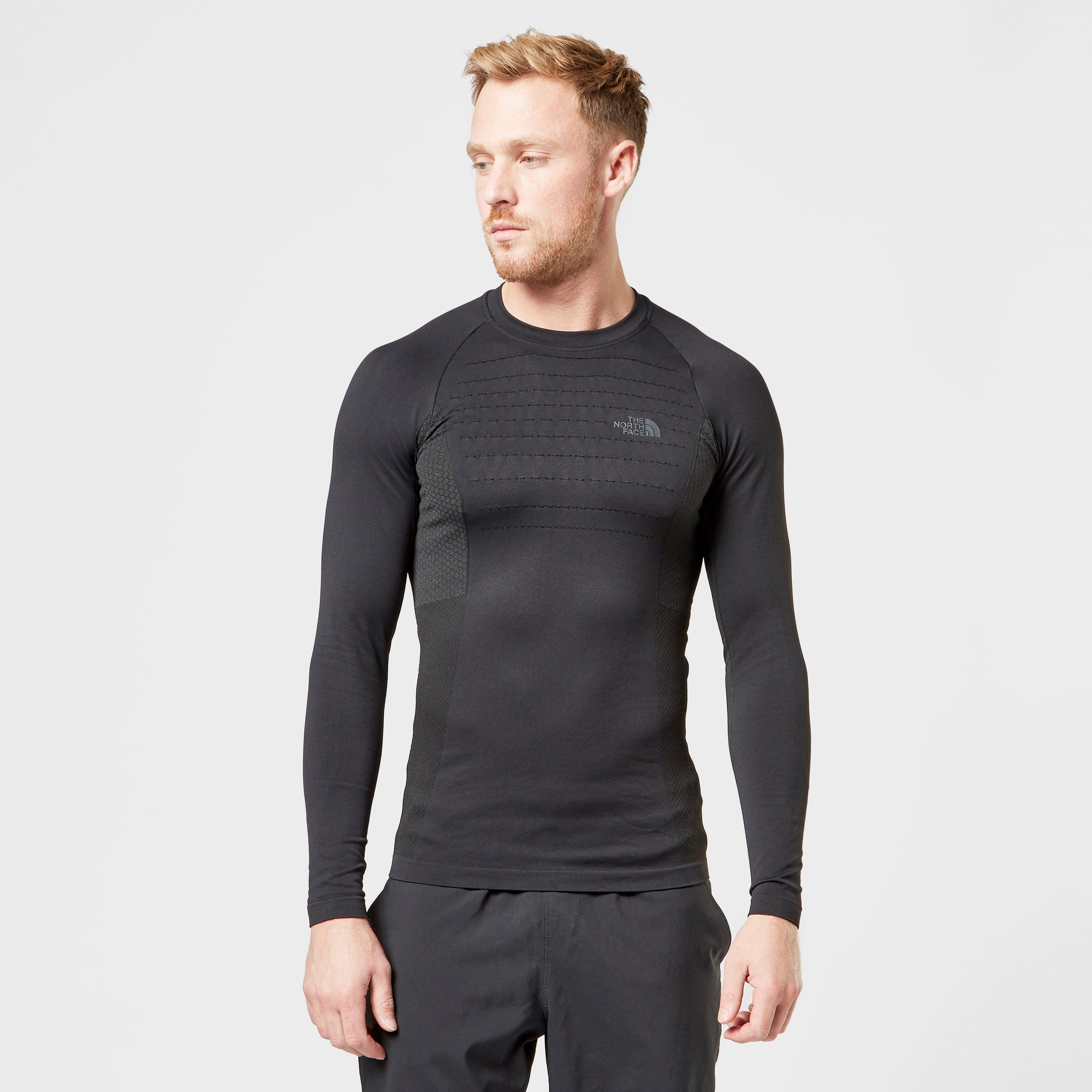 The North Face Men's Sport Long Sleeve Crew Neck - Black, Black