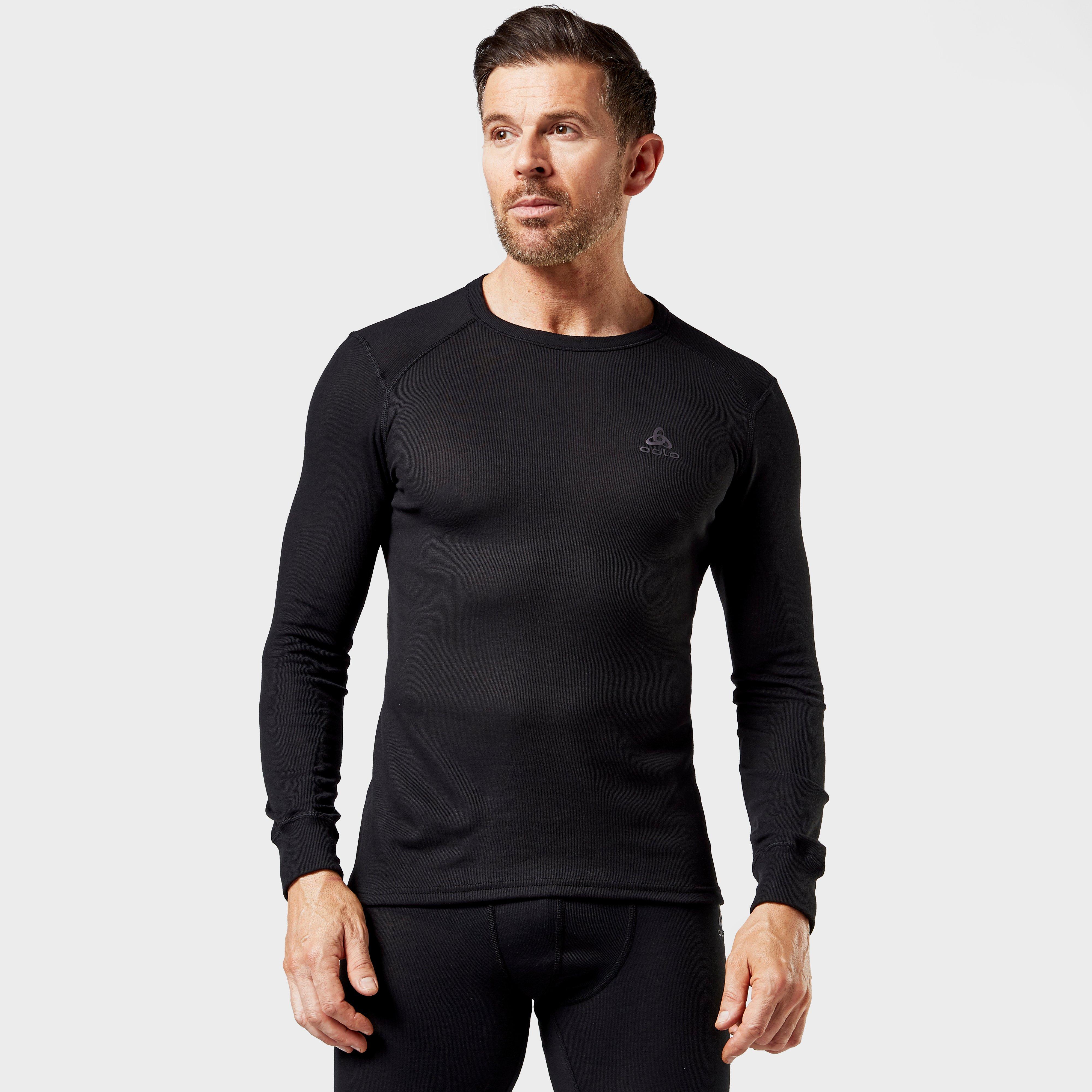 Odlo Odlo Mens Active Long Sleeve Crew Shirt - Black, Black