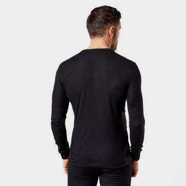 Black Odlo Men's Active Long Sleeve Crew Shirt