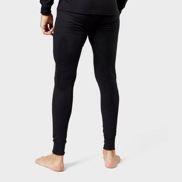 Black Odlo Men's Active Warm Legging Base Layer Pants