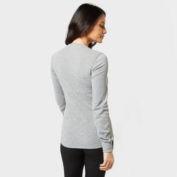 Grey|Grey Odlo Women's Active Warm Long Sleeve Base Layer Top