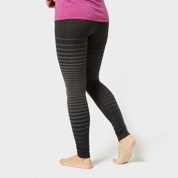 Black Odlo Women's Performance Light Base Layer Pants