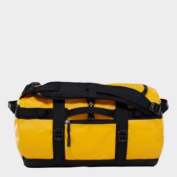 Yellow The North Face Base Camp Duffel Bag (Extra Small)