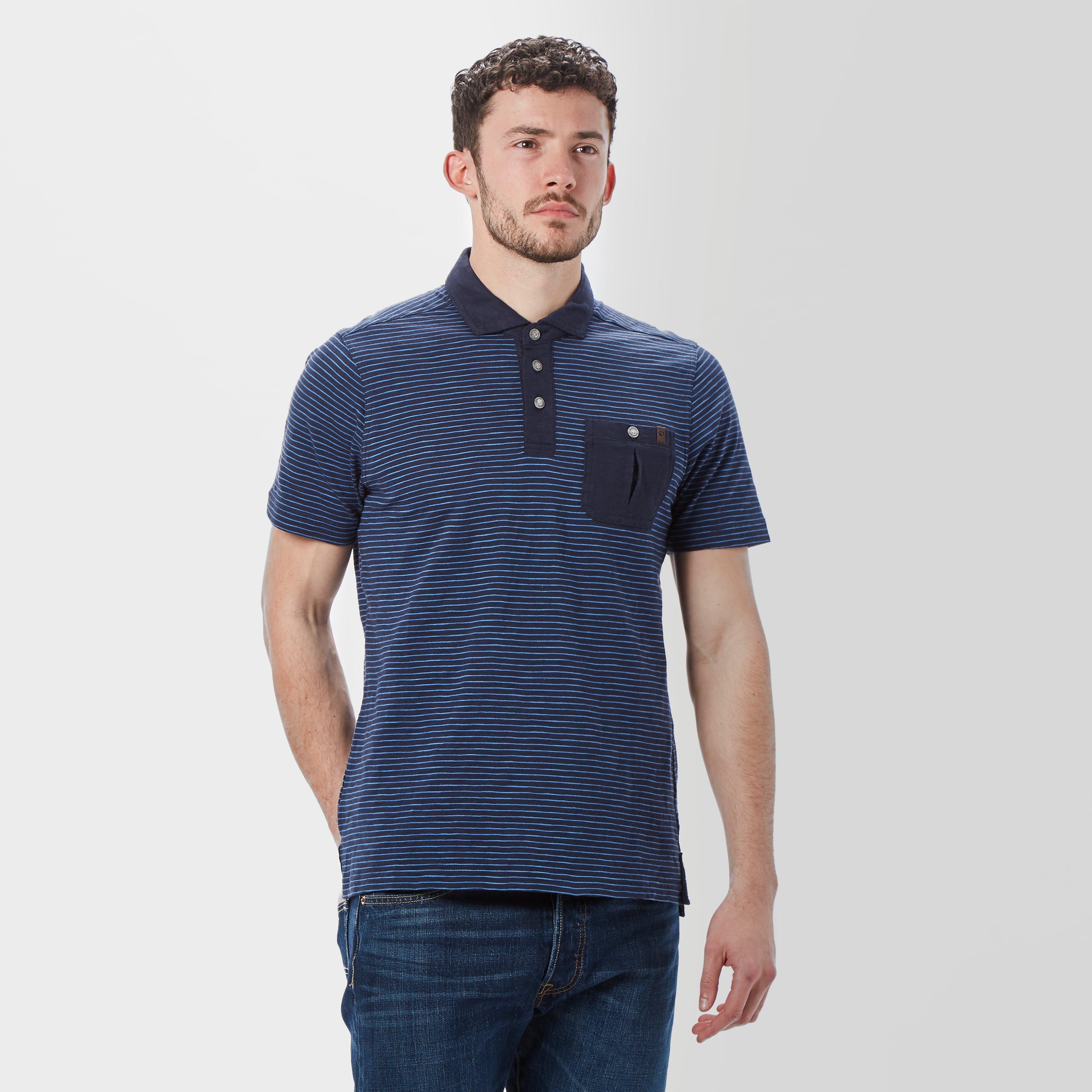 Brasher Brasher Mens Robinson Stripe Polo Shirt - Navy, Navy