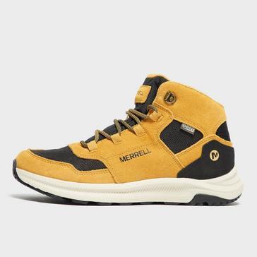 Yellow Merrell Kids' Ontario Mid Walking Boot