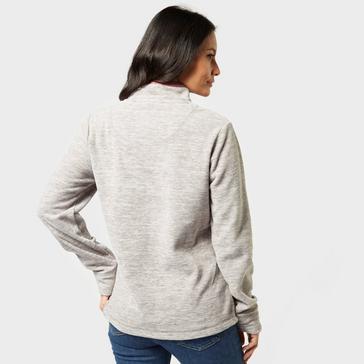 Grey|Grey Weird Fish Women's Larnie Half-Zip Fleece