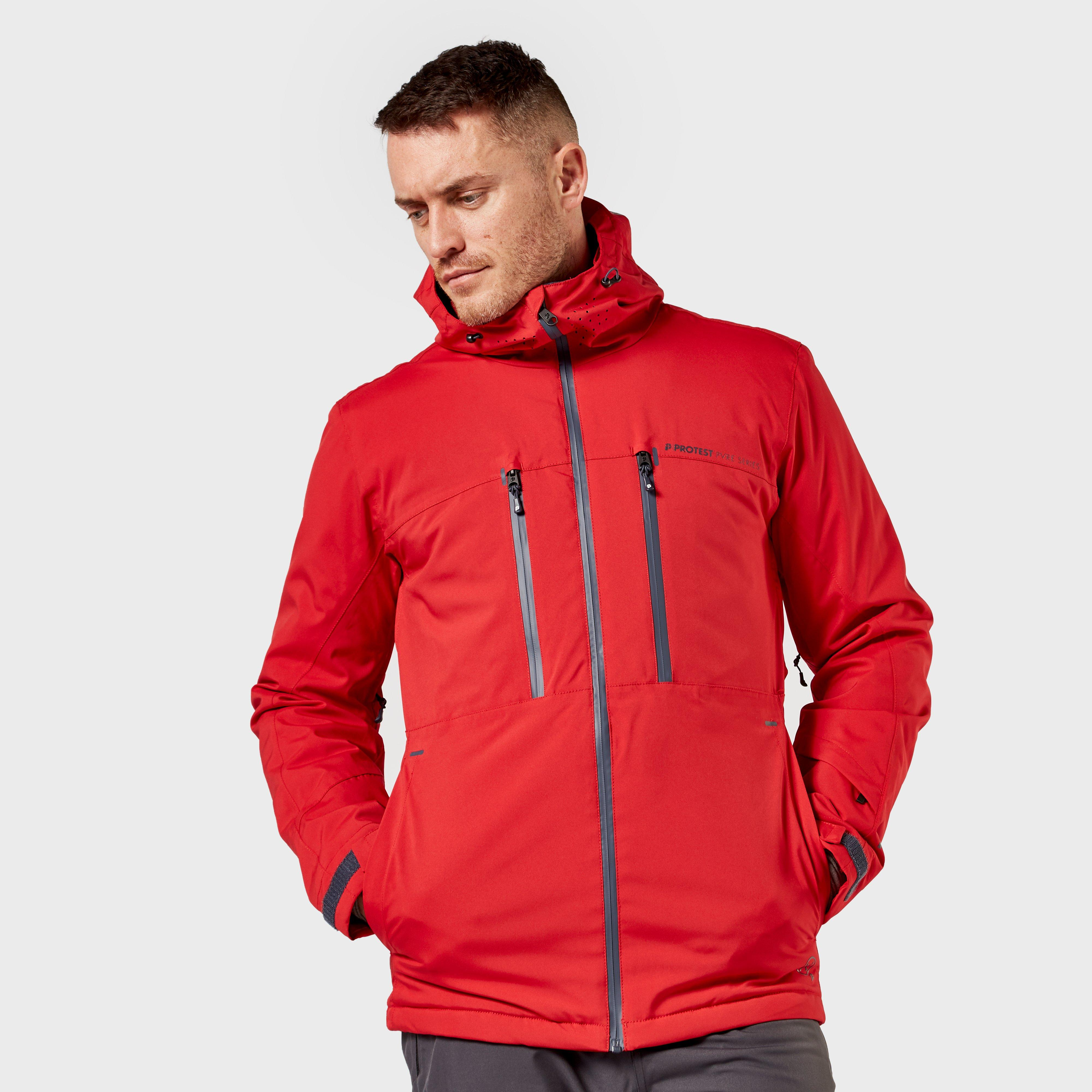 Protest Protest Mens Calvin 19 Ski Jacket - Red, Red