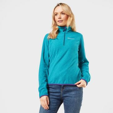 Light Blue Berghaus Women's Hendra Half Zip Fleece