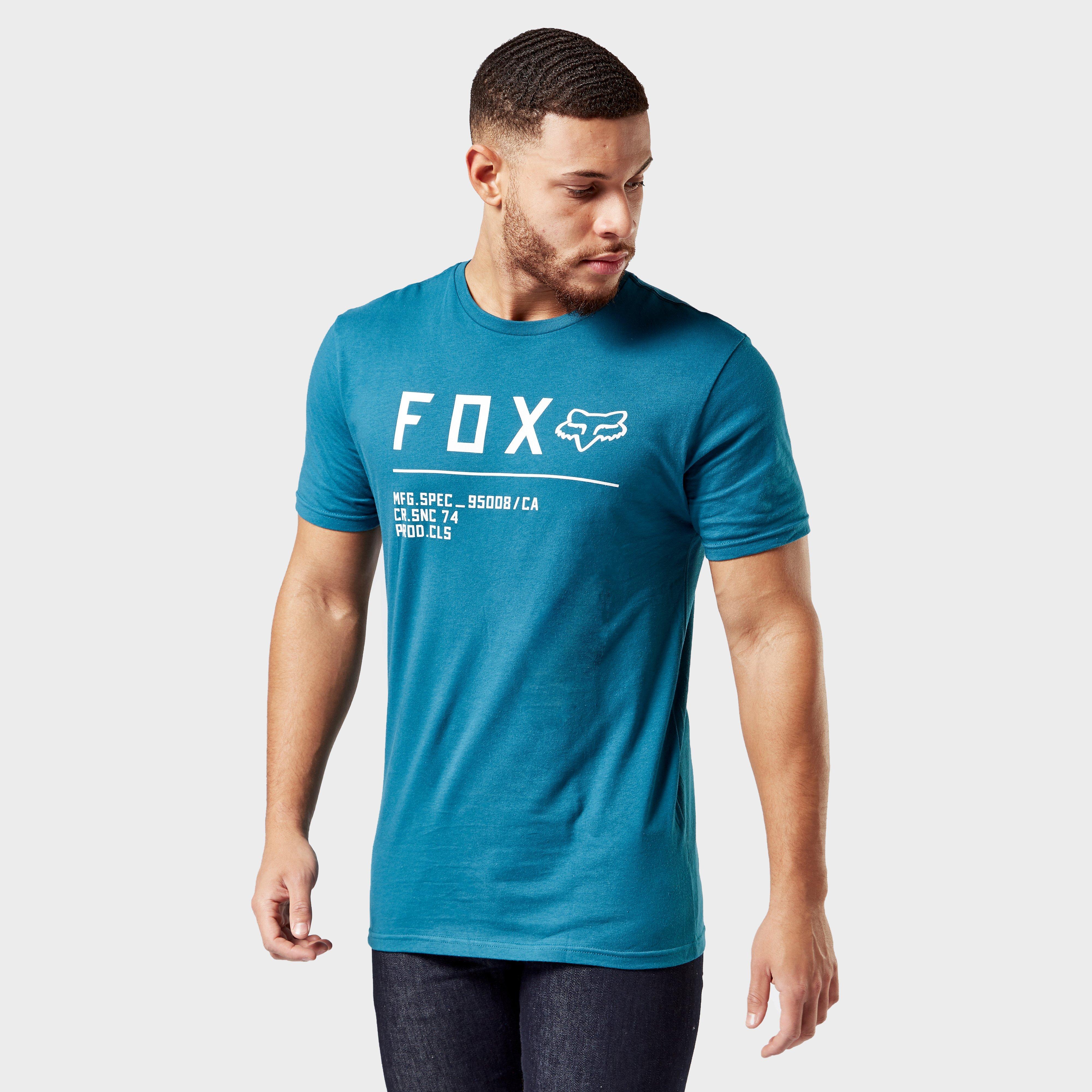 FOX Fox Mens Non Stop Premium Short Sleeve T-Shirt - Blue, Blue