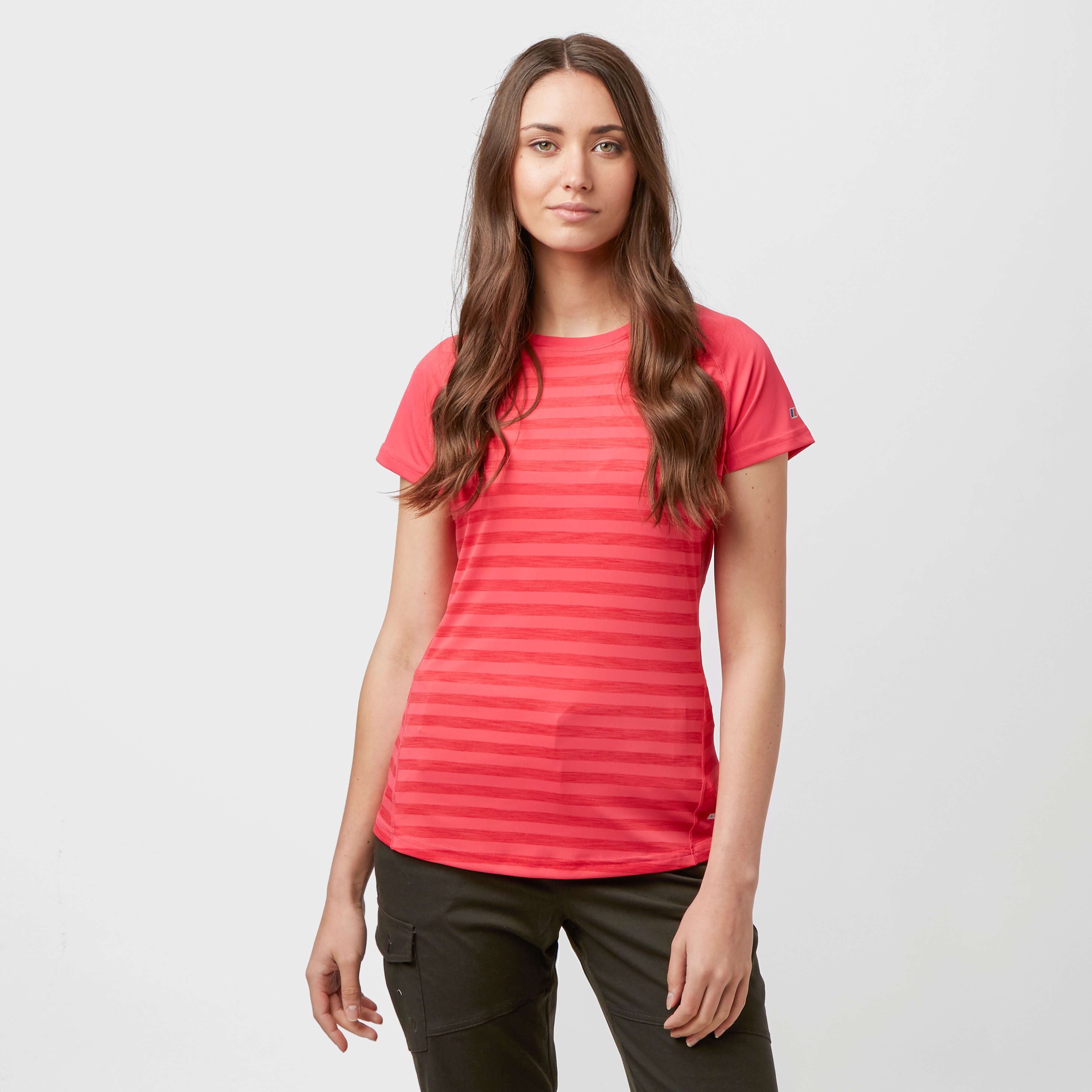 BERGHAUS Women's Stripe Short Sleeve Baselayer