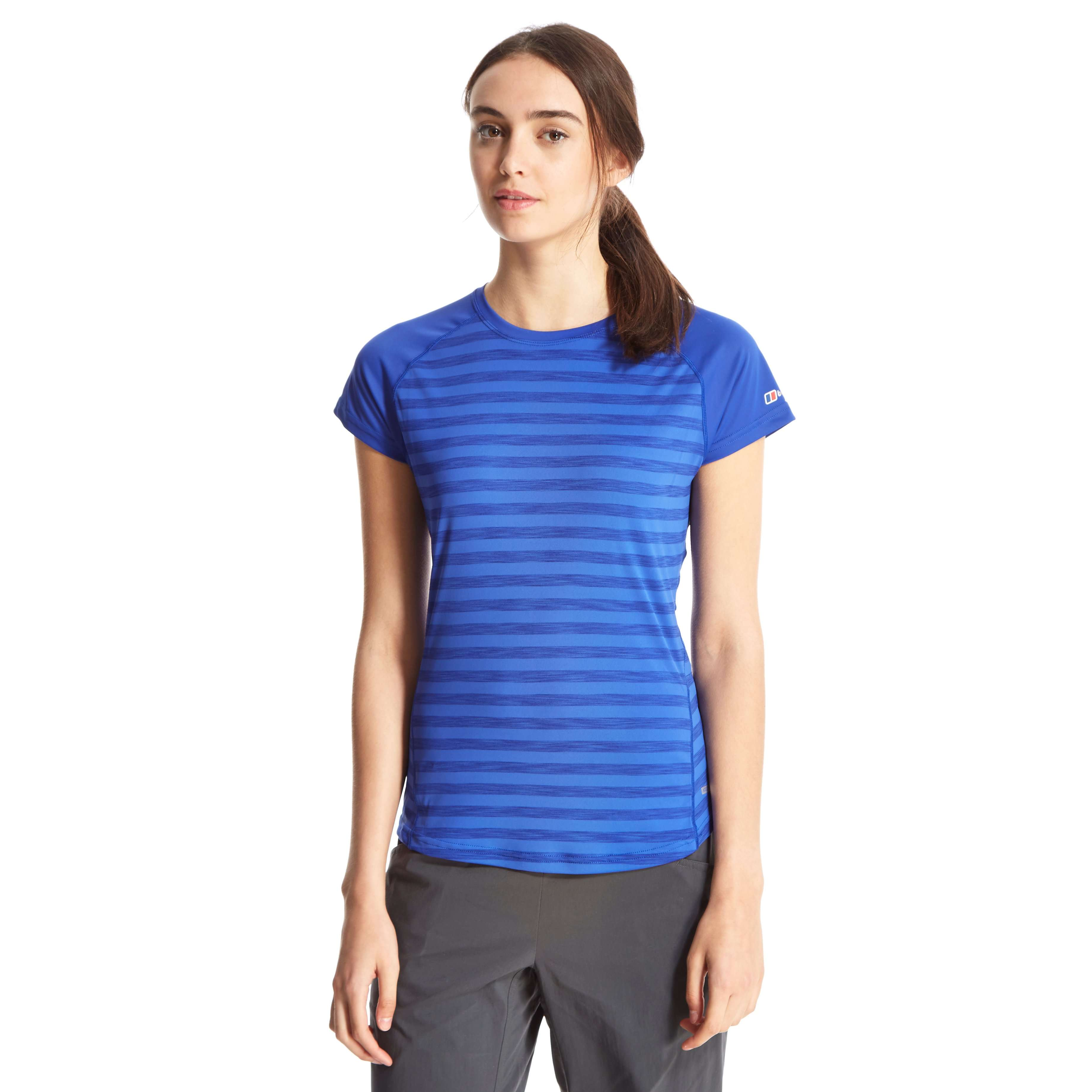BERGHAUS Women's Stripe Short Sleeve Baselayer