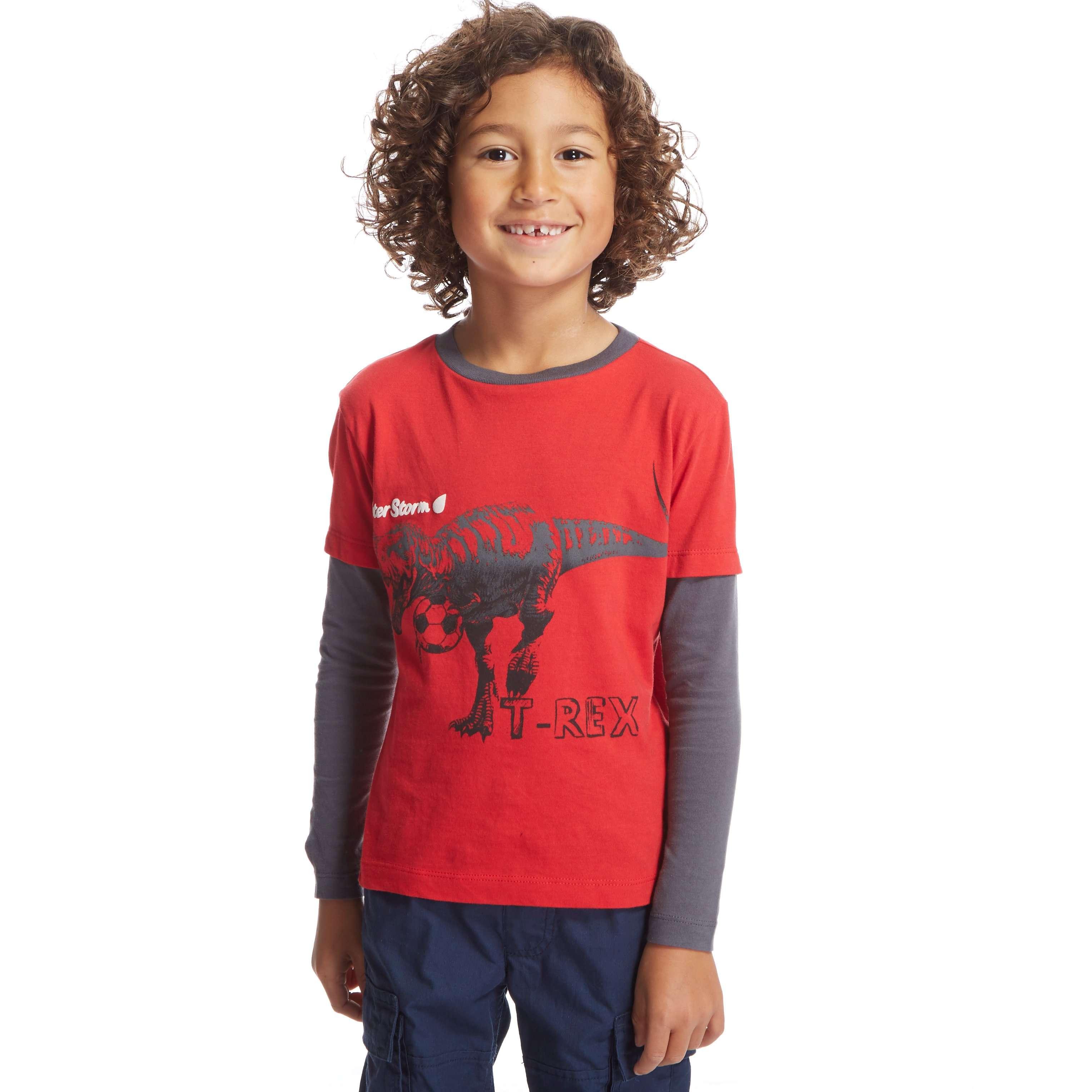PETER STORM Boys' T-Rex Long Sleeve T-Shirt