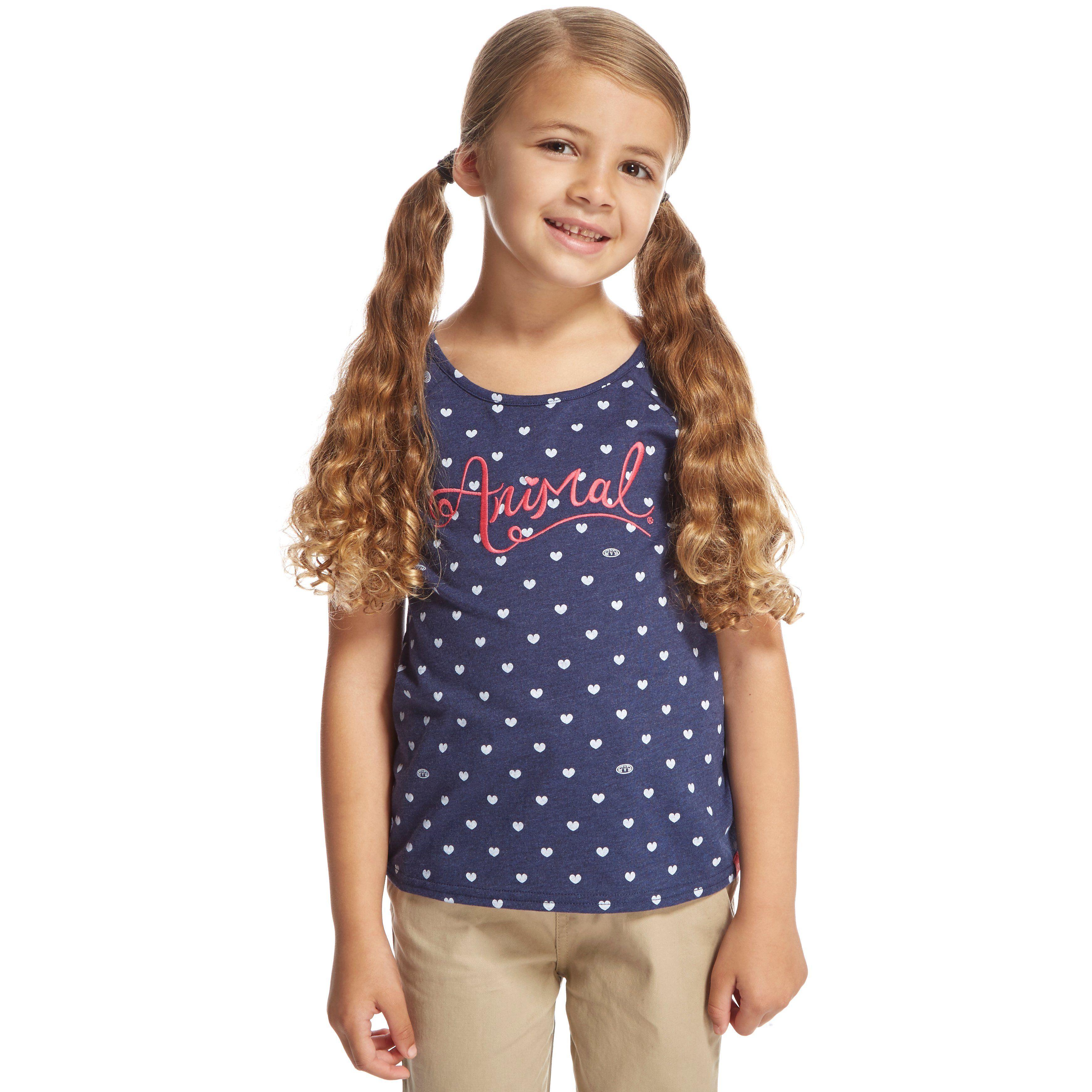 ANIMAL Girls' Hundred Hearts Deluxe T-Shirt