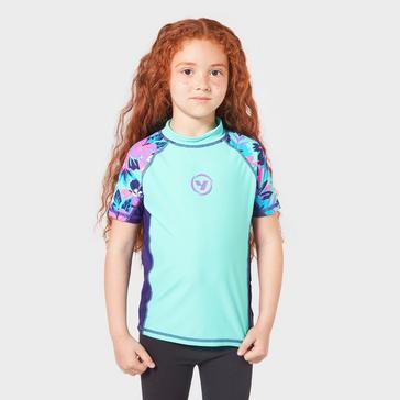 Blue Wilton Bradley Kids' Yello Tiger Rash Vest