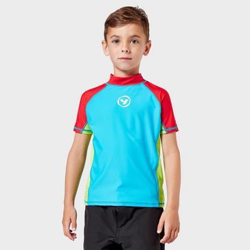 Blue Wilton Bradley Kids' Yello Rash Vest