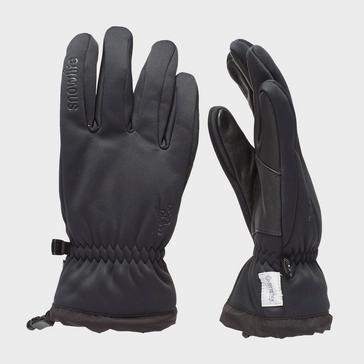 Black Snowlife Men's Softshell Gloves