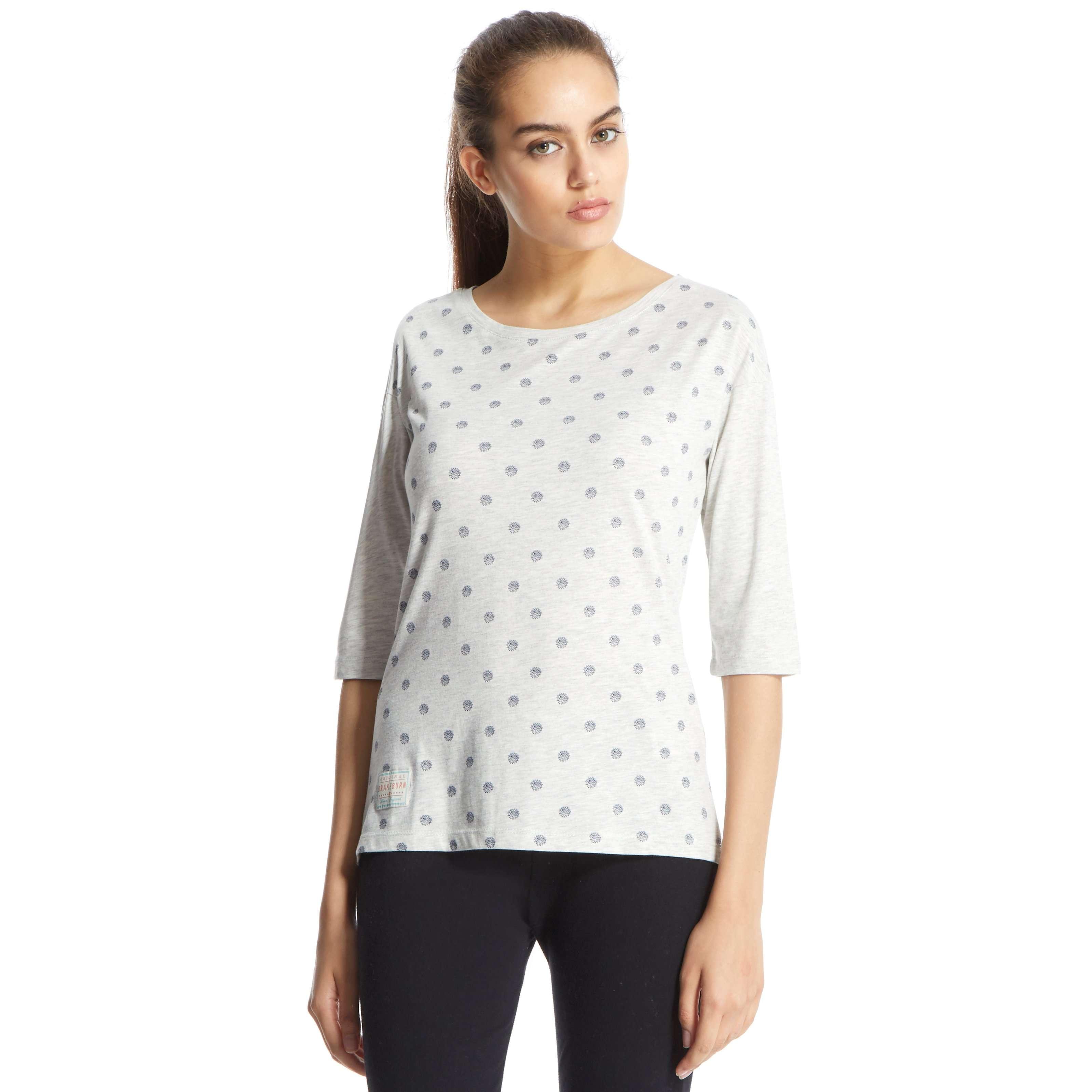 BRAKEBURN Women's Polka 3/4 Sleeve Shirt