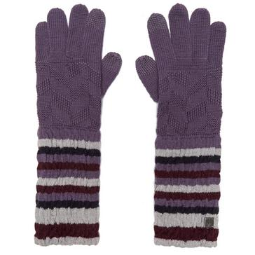 Purple Smartwool Women's Chevron Gloves