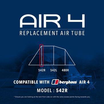 Black Eurohike Air 4 Replacement Air Tube - 542R