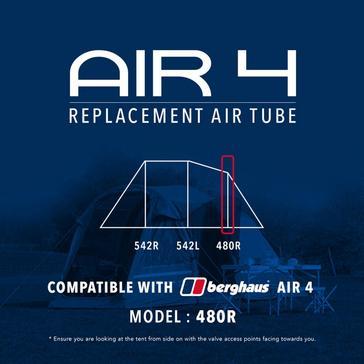 Black Eurohike Air 4 Replacement Air Tube - 480R