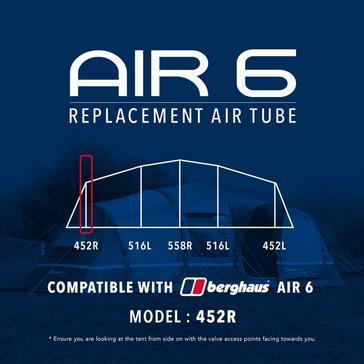 Black Eurohike Air 6 Replacement Air Tube - 452R