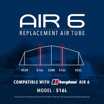Black Eurohike Air 6 Tent Replacement Air Tube - 516L