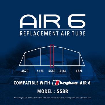 Black Eurohike Air 6 Replacement Air Tube - 558R