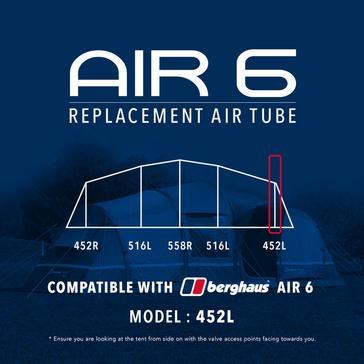 Black Eurohike Air 6 Tent Replacement Air Tube - 452L
