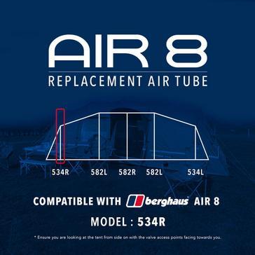 Black Eurohike Air 8 Replacement Air Tube - 534R