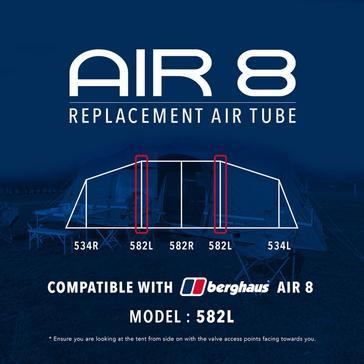 Black Eurohike Air 8 Replacement Air Tube - 582L