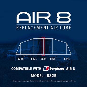 Black Eurohike Air 8 Replacement Air Tube - 582R