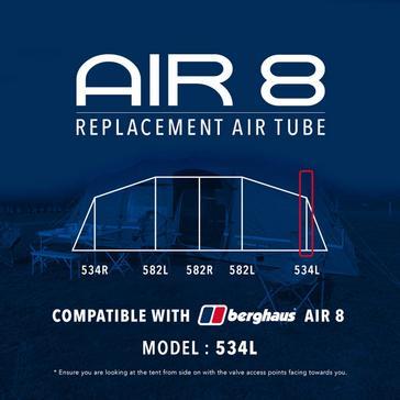 Black Eurohike Air 8 Replacement Air Tube - 534L