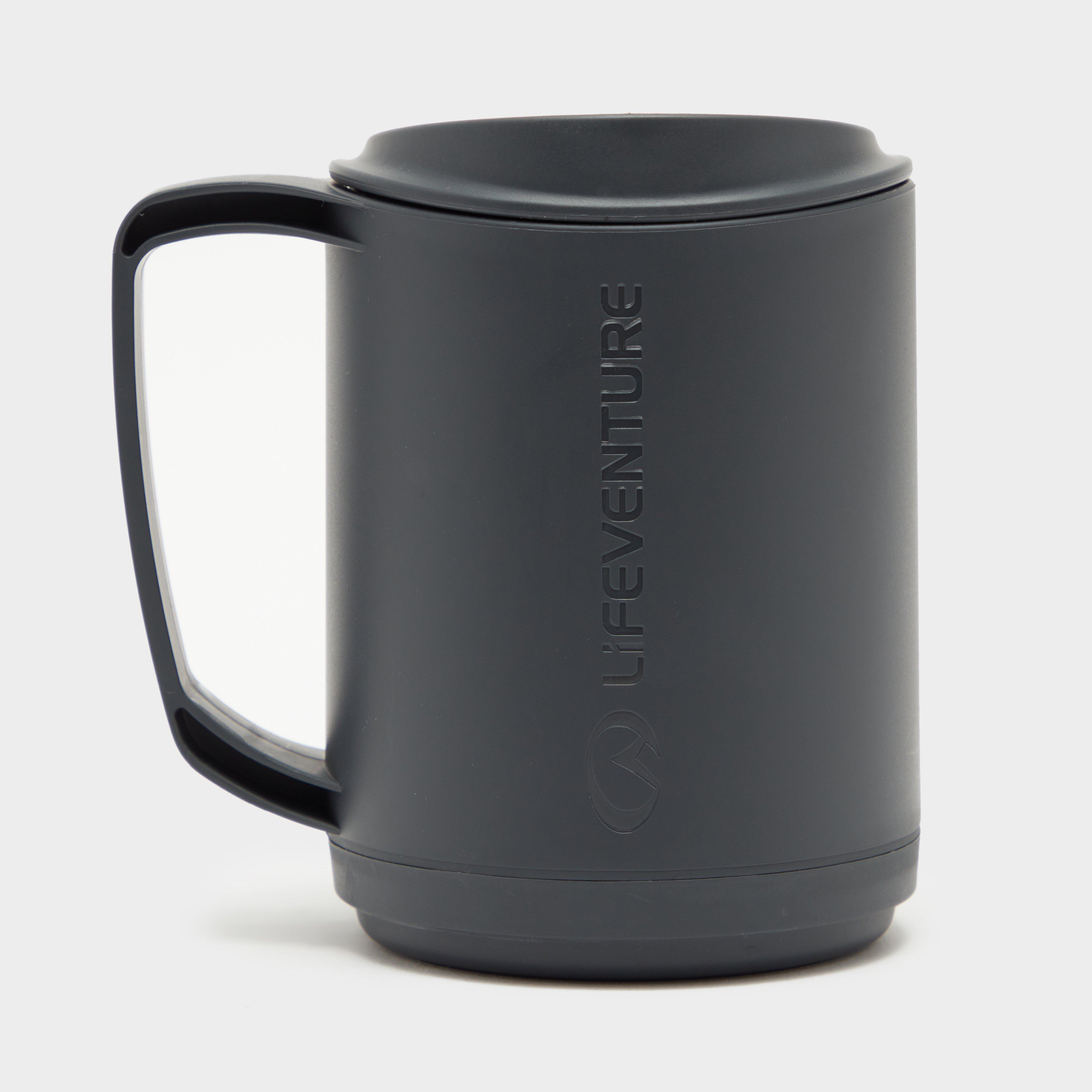 Lifeventure Lifeventure Ellipse Insulated Mug - Grey, Grey