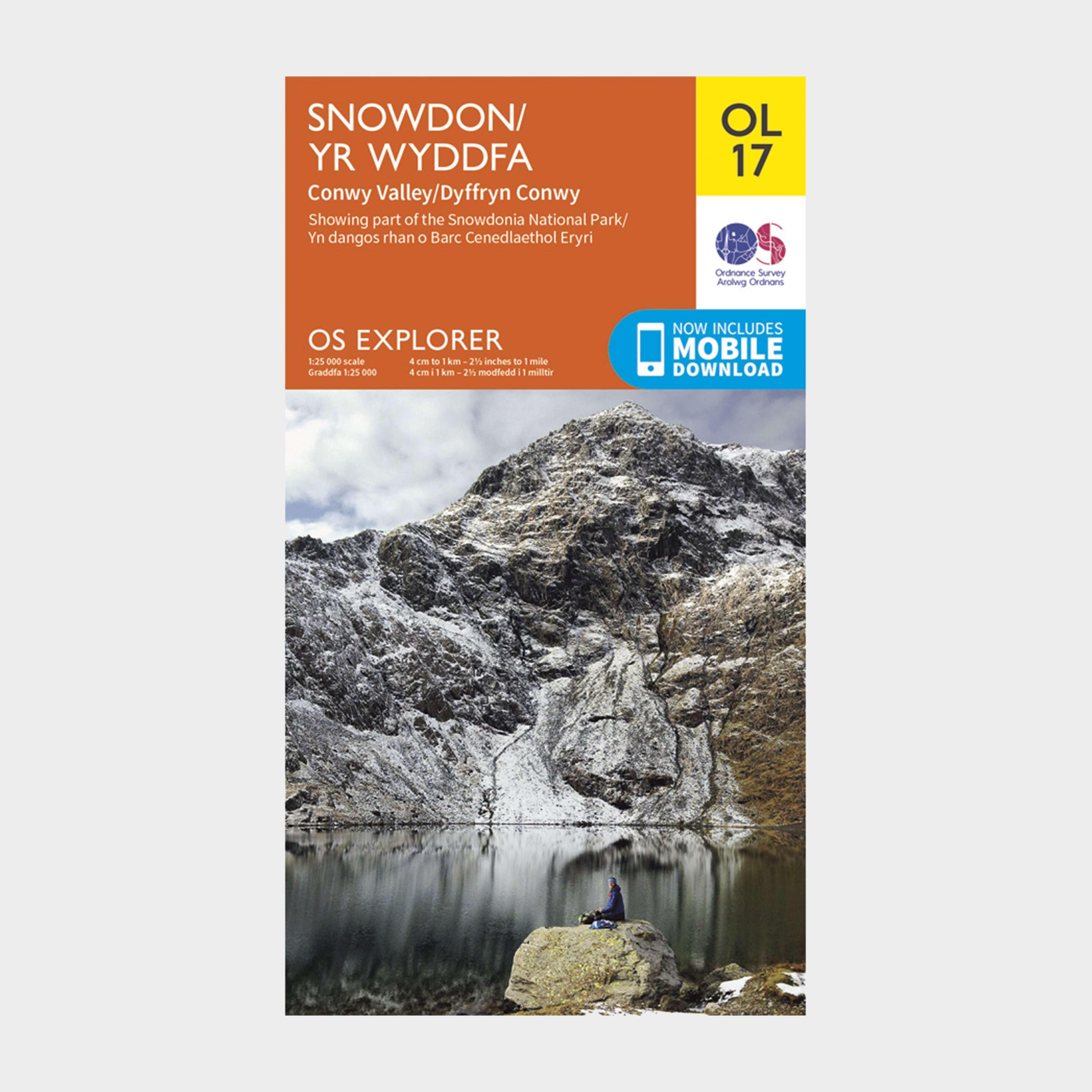 ORDNANCE SURVEY Explorer OL17 Snowdon & Conwy Valley Map With Digital Version