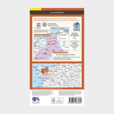 Orange Ordnance Survey Explorer OL17 Snowdon & Conwy Valley Map With Digital Version