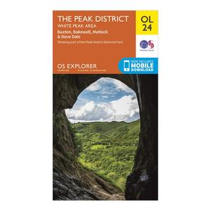 ORDNANCE SURVEY OL 24 Explorer The Peak District - White Peak Area Map