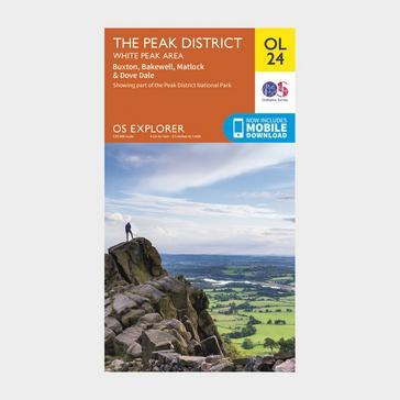 Orange Ordnance Survey Explorer OL24 The Peak District With Digital Version