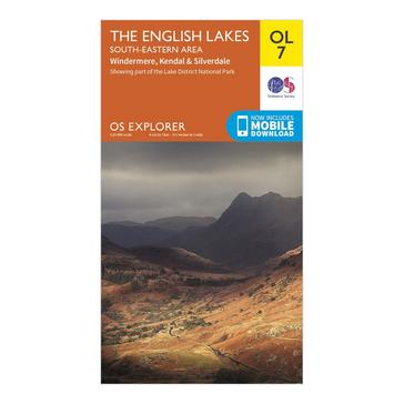 Orange Ordnance Survey Explorer OL7 The English Lakes – South Eastern Area With Digitial Version