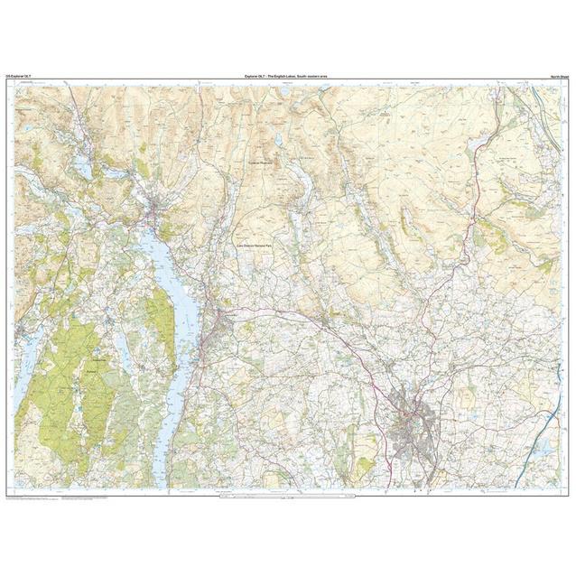 map of south lake district Ordnance Survey Ol 7 Explorer The Lake District South Eastern map of south lake district