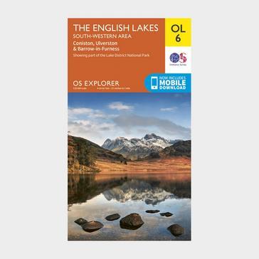 Orange Ordnance Survey Explorer OL6 The English Lakes - South Western area With Digital Version