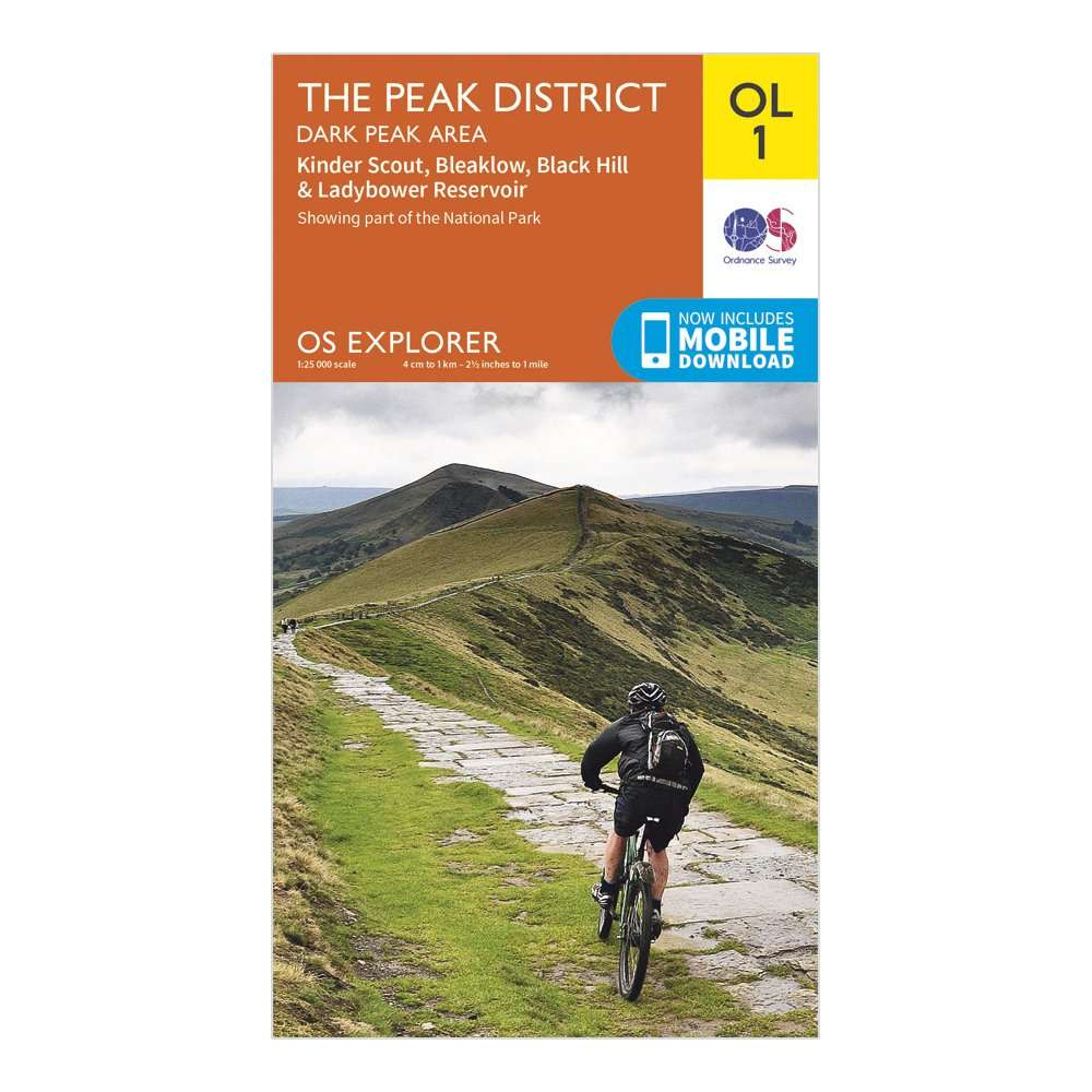 ORDNANCE SURVEY Explorer OL1 The Peak District - Dark Peak area With Digital Version
