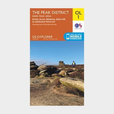 Orange Ordnance Survey Explorer OL1 The Peak District - Dark Peak area With Digital Version