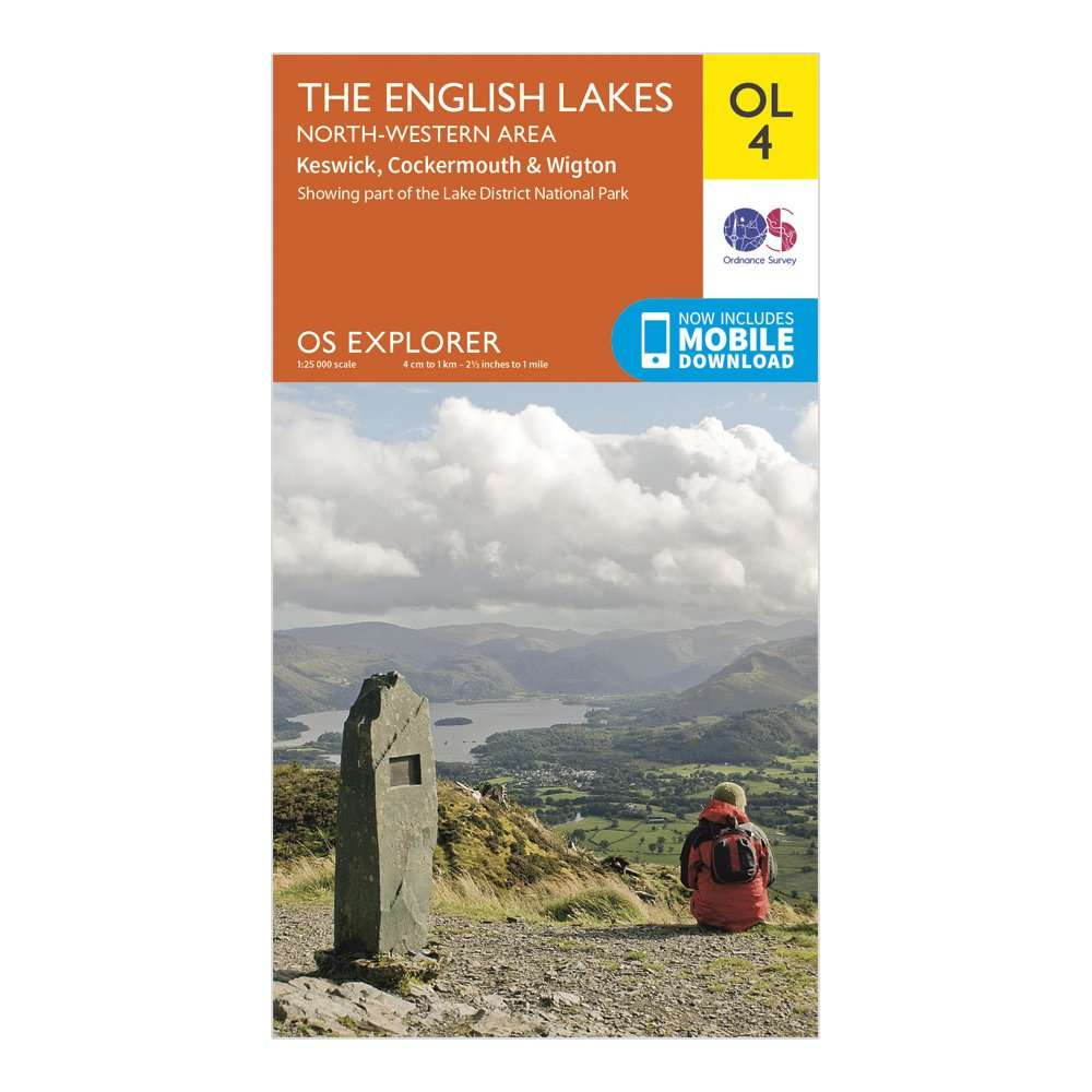 ORDNANCE SURVEY Explorer OL4 The English Lakes - North Western area With Digital Version