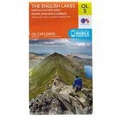 Explorer OL5 The English Lakes - North Eastern area Map With Digital Version