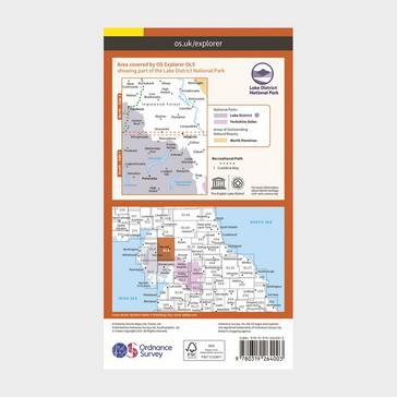 Orange Ordnance Survey Explorer OL5 The English Lakes - North Eastern area Map With Digital Version